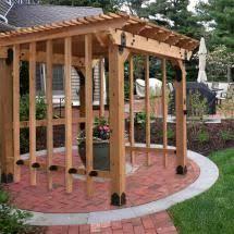 10 u0027 x 10 u0027 patio pergola featuring the post base kit post to beam