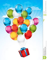balloons gift gift box and colorful balloons stock photography image 17137292