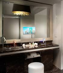 Bathroom Mirror Built In Light by Bathroom Mirror With Tv 8 Awesome Exterior With Tv Hidden Behind