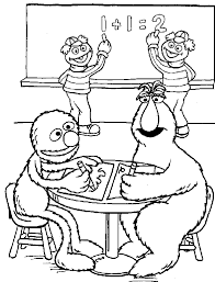 sesame street coloring pages bing images sesamstraat