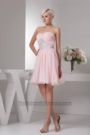 pink strapless beaded homecoming graduation party dresses
