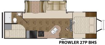 Prowler Camper Floor Plans Used 2013 Heartland Prowler 27p Bhs Travel Trailer At Fun Town Rv