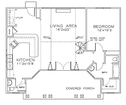 Floor Plan Spiral Staircase House Plan 57888 At Familyhomeplans Com