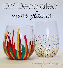 DIY Decorated Wine Glasses Mommy Like Whoa