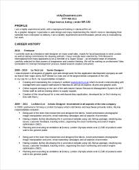 Resume Format For Web Designer Freelance Resume Template Resume Examples Graphic Design Resume