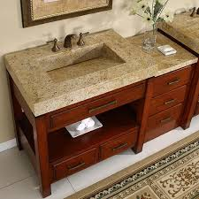 Bathroom Vanities Granite Top Silkroad 56 Inch Modular Bathroom Vanity Granite Top Hyp 0217 56