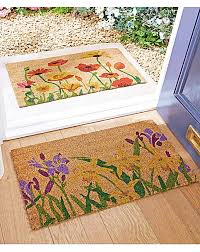 Coir And Rubber Doormat Poppy And Iris Pack Of Coir Doormats House Of Bath