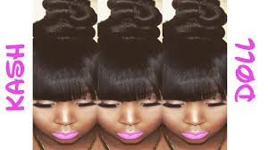 images of black braided bunstyle with bangs in back hairstyle kash doll bun tutorial top knot bun youtube