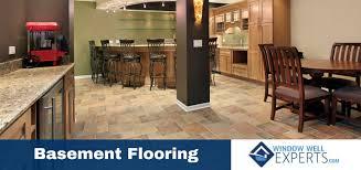 Best Basement Flooring Options The Best Basement Flooring Options Window Well Experts