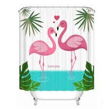 Flamingo Shower Curtains Beautiful Pink Flamingo Shower Curtain