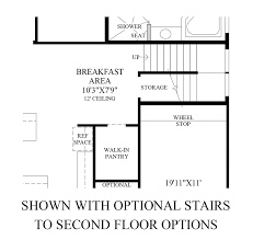 Stairs In Floor Plan by Northgrove At Spring Creek Executive Collection The Mirabel