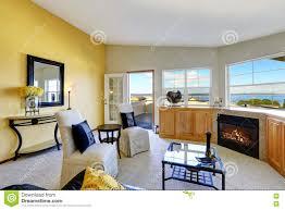 Interior Duplex Design Bright Living Room Interior In Duplex House Stock Photo Image