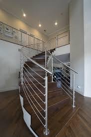 Stainless Steel Stair Handrails Curved Stainless Steel Rod Railings Bella Stairs