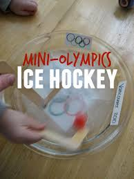 toddler approved mini olympics ice hockey and figure skating