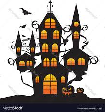 halloween silhouette vector halloween castle royalty free vector image vectorstock