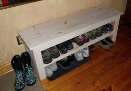 decorations storage idea for entryway with diy shoe bench also