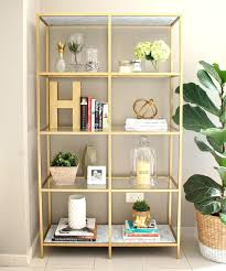 bookcase ikea billy bookcase shelf white diy gold bookshelf