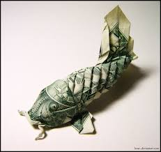 Origami Koi Fish Dollar Bill - dollar bill koi by lexar on deviantart