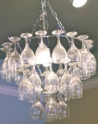 awesome wine glass chandelier u2014 best home decor ideas making