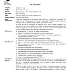 summer camp counselor resume example top 8 summer youth counselor