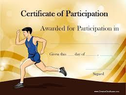 running certificate templates free u0026 customizable