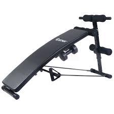 virtual mega adjustable arc shaped sit up bench gym crunch