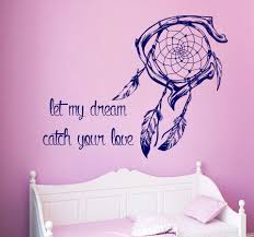 169 Best Wall Decals Images by Dream Catcher Wall Decal Quote Let My Dream Catch Your Love