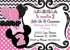 template classic minnie mouse birthday invitations free with