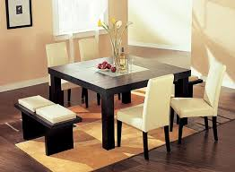 Square Dining Table Simply But Sophisticated KeriBrownHomes - Square kitchen table with bench