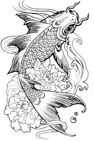 complex fish carp animals coloring pages for adults justcolor
