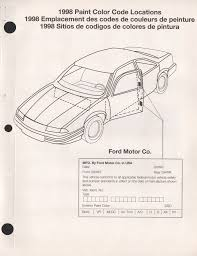 paint chips 1998 ford mercury