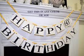 60th birthday decorations happy 60th birthday banner gold birthday decorations birthday