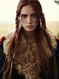 viking warrior hair character inspiration girl red hair brown eyes pinteres