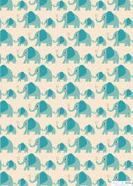 wrapping paper 5 sheets of elvis the elephant wrapping paper rex london
