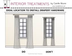 How To Install Cambria Curtain Rods by Where To Place Curtain Rod Brackets Installing Wrought Iron