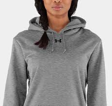 classic womens under armour hooded sweatshirt workout hoodie grey