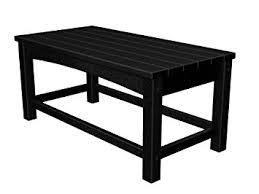 Garden Coffee Table Polywood Clt1836bl Club Coffee Table Black Patio