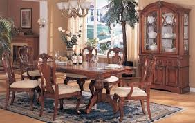 Maple Dining Room Sets F2084 Formal Dining Room Set In Dark Maple By Poundex