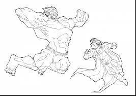 Stunning Hulk Vs Thor Coloring Page With Hulk Coloring Page Thor Coloring Page