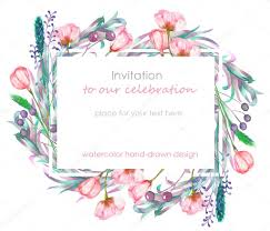 wedding wishes card template card template with the floral design berries flowers and