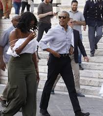 michelle obama steps out in shoulder baring top in tuscany daily