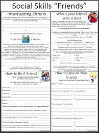 social skills worksheets friends repinned by urban wellness www