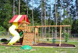 breathtaking swing set for small backyard pics decoration