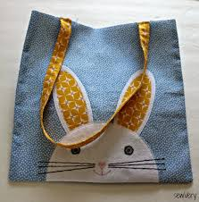 sewvery bunny face bag tutorial diy ideas pinterest bunny