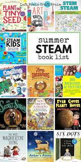 the coolest summer steam book list for kids left brain craft brain