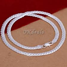 silver necklace women images Fashion men women 5mm solid silver necklace chain 20 quot inch gift ebay jpg