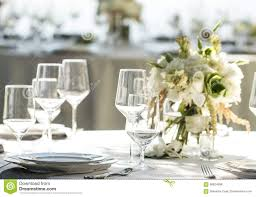wine glasses table setup stock photo image 58924598