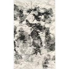 safavieh retro cream grey 5 ft x 8 ft area rug ret2136 1180 5