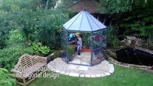 Palram Greenhouse Palram Oasis Hex 7 X 8 Ft Greenhouse Hg6000 Youtube