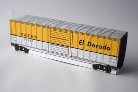 boxcar papercraft activity
